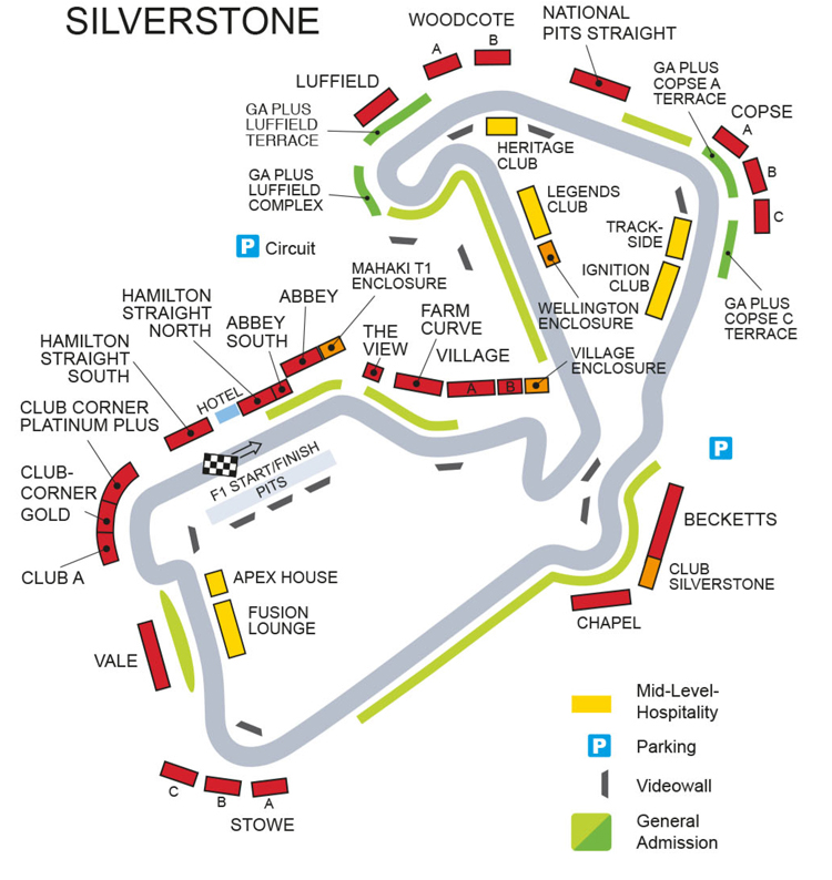 British Formula One Grand Prix, Race Tickets, F1 Paddock Club, ®F1 Experiences, Circuit ...