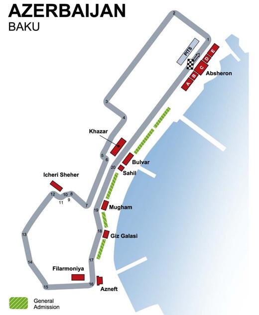Azerbaijan Baku Formula One Grand Prix Race Tickets Escorted