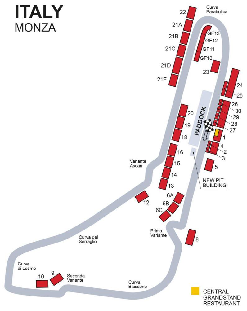 Italian Formula One Grand Prix 2018 Race Tickets Monza Circuit