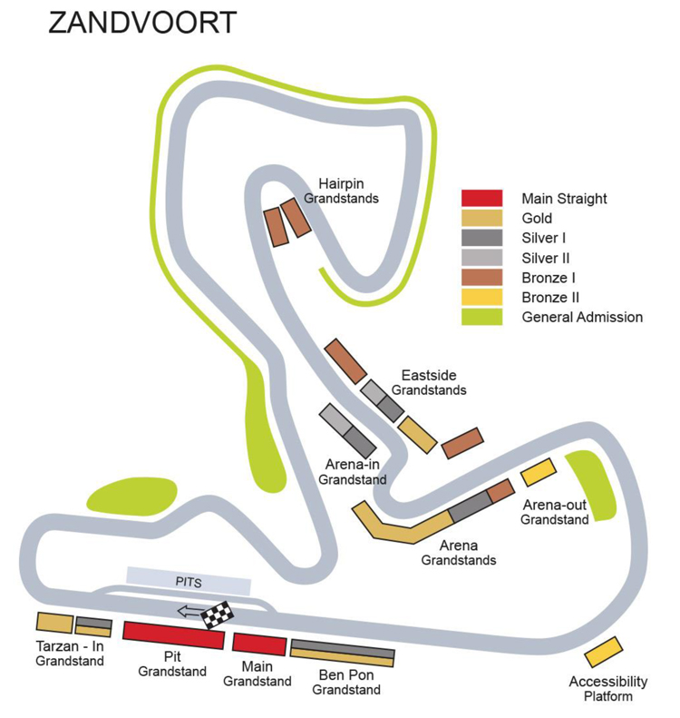 Netherlands Dutch Formula One Zandvoort Circuit Race Tickets And Hospitality Select Motor Racing