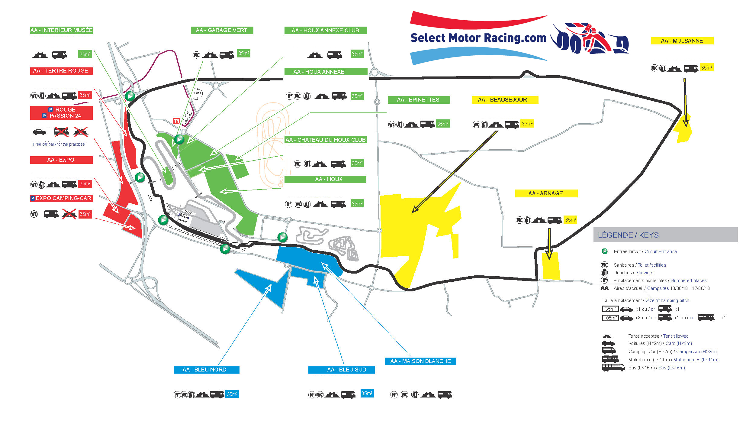 Le Mans Circuit Map 2020 Le Mans 24hr 13th & 14th June, Race Tickets, ACO Hospitality
